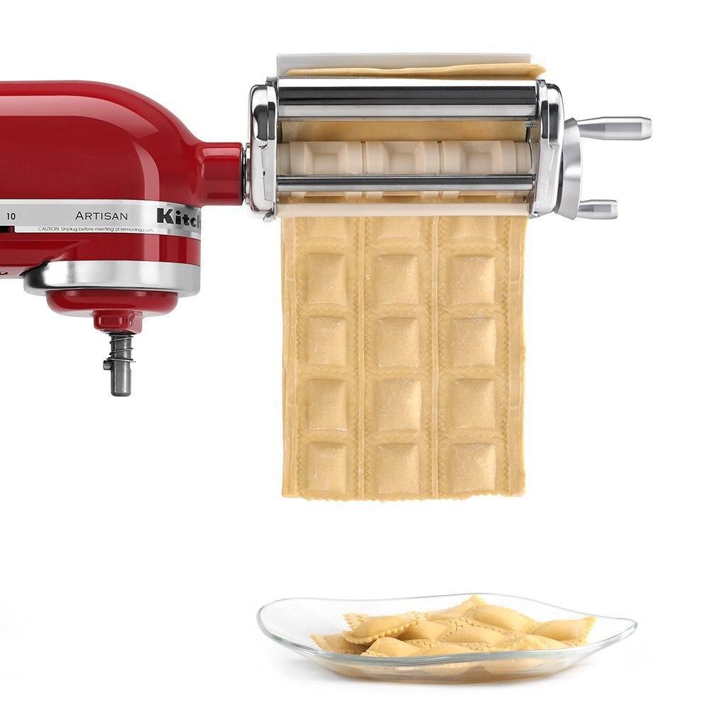 KA Haushalts Edelstahl KRAV Ravioli Maker Befestigung für KitchenAid Stehen Mischer Kleine Pie Pasta Walze Nudel Maker Maschine
