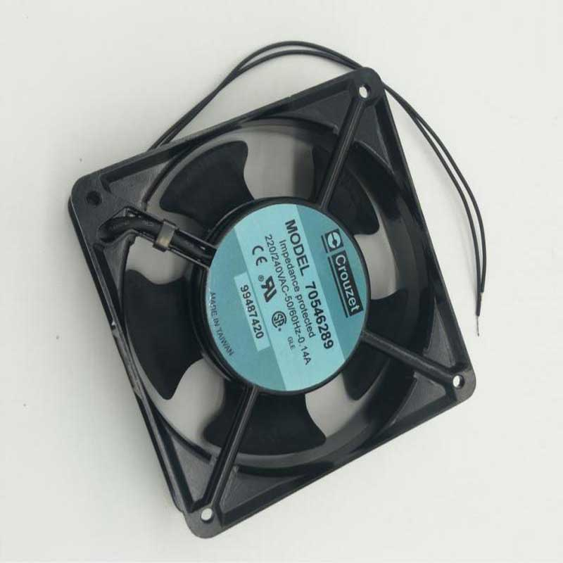 For Crouzet 70546289 99487420 120*120*38mm 220V 0.14A Cooling Fan 2 Wire Processor Cooler Heatsink Fan