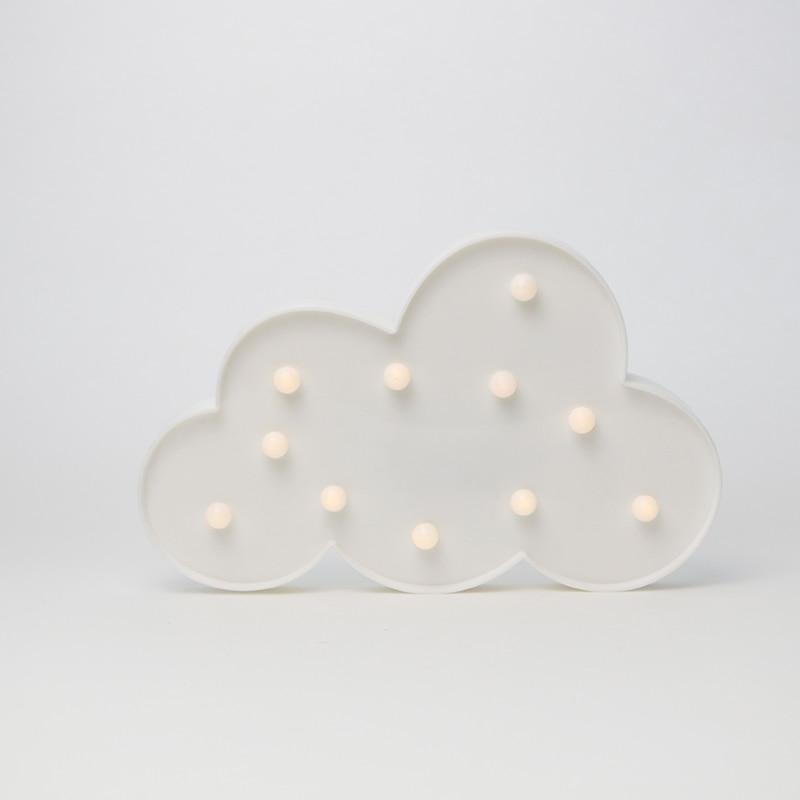 Cloud Shape LED Light Battery Box Christmas Decoration Light String Party Festival Lighting 3D Desk Lamp Kids Room Decor Light