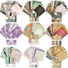 Lychee life 12 arkuszy/dużo scrapbooking kwiat papier sztuka dokument informacyjny dla tworzenie kartek album do scrapbookingu diy prace ręczne z papieru