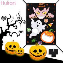 HUIRAN 1pc Halloween Pumpkin Garden Flags Games Decorations Outdoor Favors Party Decoration