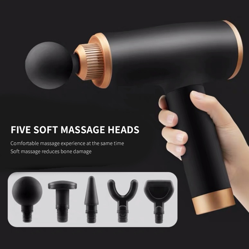 Body Realex Electric EMS Massage Gun  Casual 9Gears 5 Heads Rechargeable Muscle Massager Body Relaxation Slimming Pain Relief