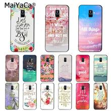 MaiYaCa Bible verse Philippians Jesus Christ Christian Phone Case For Samsung Galaxy A7 2018 A50 A70 A8 A3 A6 A6Plus A8Plus A9(China)
