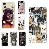 Para Huawei Mate 9 10 20 P P8 P9 P10 P20 P30 P40 Lite Pro Smart 2017 Nuevo Animal lindo Bulldog francés Adorable dibujo de color