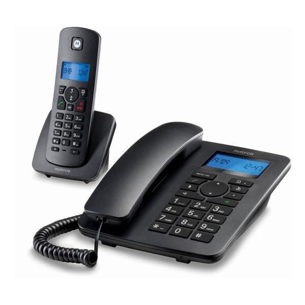 Стационарный телефон Motorola C4201 Combo DECT (2 шт.) черный