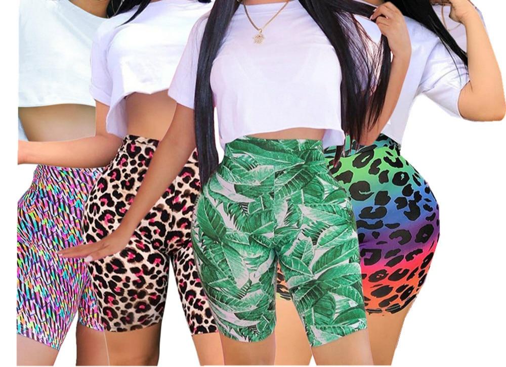 Shorts d'impression numérique d'été pour les femmes mode Sexy mince taille haute serré respirant léopard pantalon court