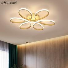 מודרני Led נברשת תאורה לסלון חדר שינה מקורה מנורת שלט רחוק זוהר נברשת מנורת AC90v 260v lampadario