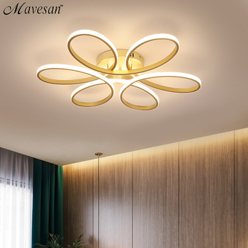 Modern Led Chandelier Lighting for Living room Bedroom Indoor Lamp Remote control lustre chandelier lamp AC90v-260v lampadario