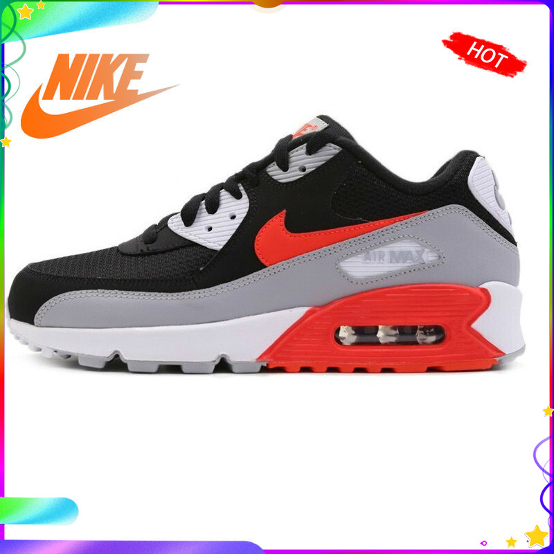 Original Authentic NIKE AIR MAX 90 ESSENTIAL Men's Running Shoes Outdoor Sneakers Breathable 2019 New Color Matching AJ1285-008