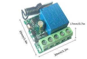 Image 5 - Pilot zdalnego sterowania 433Mhz DC 12V 1CH przełącznik rf przekaźnik odbiornik i nadajnik do sterowania pilot garażowy i światło zdalne przełącznik
