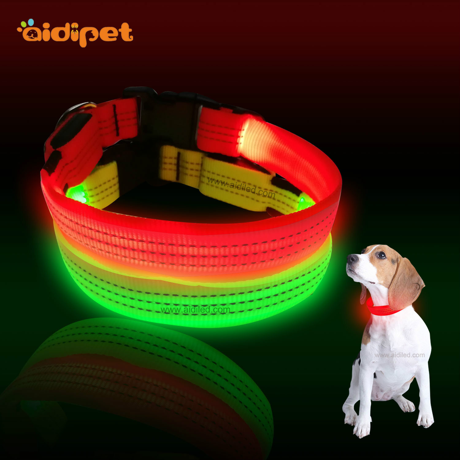 Pet Supplies Fashion LED Dog Collar New Style Comfortable Breathable Cloth Scarf Night Safe Luminous Collar