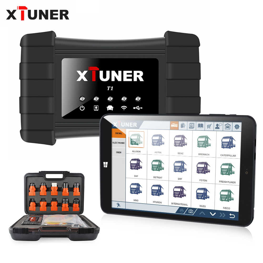 2020 Nieuwste Xtuner T1 Hd Heavy Duty Truck Auto Diagnostic Tool Met Truck Airbag Abs Dpf Egr Reset OBD2 Auto diagnose Scanner
