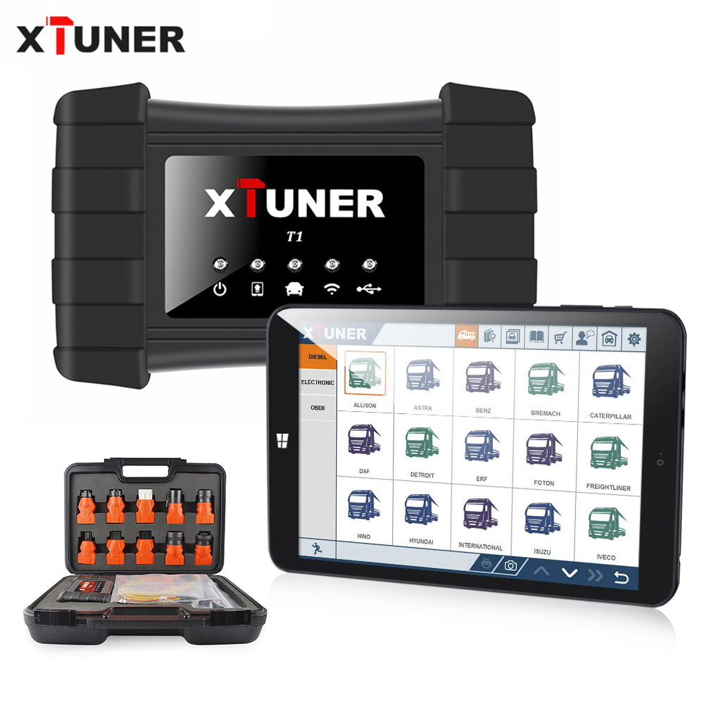 2019 Newest XTUNER T1 HD Heavy Duty Truck Auto Diagnostic Tool With Truck Airbag ABS DPF EGR Reset  OBD2 Auto Diagnostic Scanner-in Engine Analyzer from Automobiles & Motorcycles on