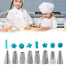 14pc Cake Decorating Tool Kits Piping Tip and Bag Baking Icing Set with 3 Spatulas Baking Deco Tool Silicone Kitchen Accessories 12pcs cake decorating tool kits piping tip and bag baking icing set with 3 spatulas baking decoration tool