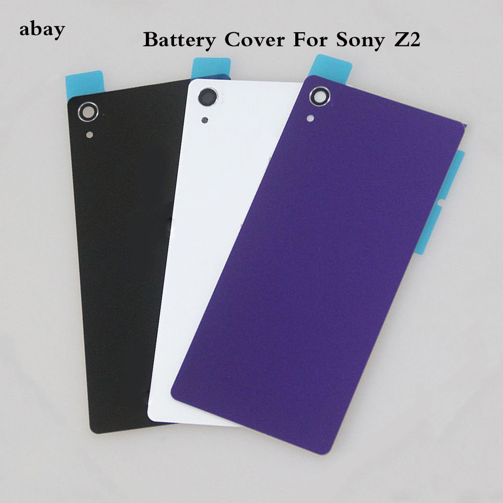 For <font><b>Sony</b></font> Xperia <font><b>Z2</b></font> D6543 L50W D6503 Housing Rear Glass Back <font><b>Battery</b></font> <font><b>Cover</b></font> Door <font><b>Cover</b></font> With NFC Antenna Replacement Parts image