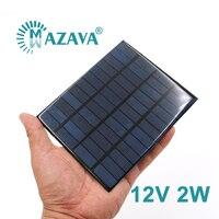 Mini Panel Solar de 12V, 2 vatios Y 2 W, células solares, bricolaje, para luz, cargador de teléfono móvil, portátil, alta calidad, D I Y, educación