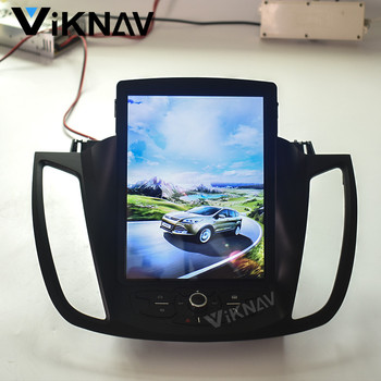 vertical screen For ford kuga escape 2013 2014 2015 2016 2017 2018 car autoradio tesla GPS navi vertical DVD player stereo image