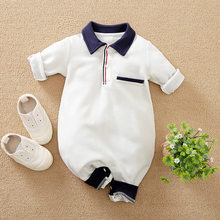 Newborn 100% Cotton baby boy Romper Jumpsuit Infant Toddler Cute Long Sleeve Kids clothes spring autumn summer Baby Boy Costume