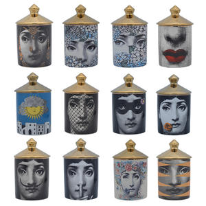 Jar Candle-Holders Face-Cup Incense Lina Handmade Living-Room Home-Decor Study-Ornaments