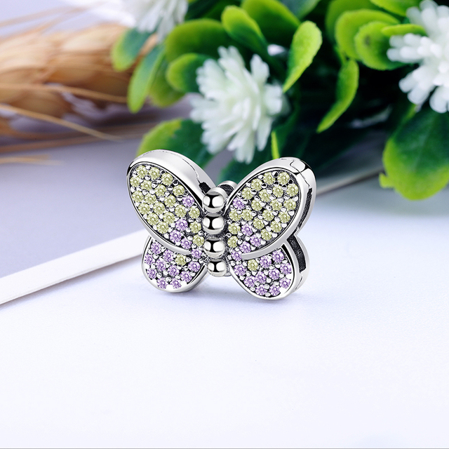 2020 New Original 925 Sterling Silver Reflections Dazzling Clip Stopper Charms Beads Fit Pandora Bracelet DIY Women Jewelry