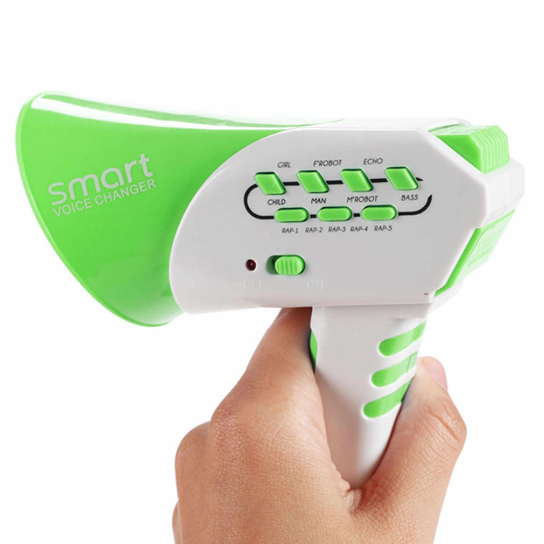 Niños Multi voz cambiador cuerno intercomunicador juguete electrónico creativo altavoz juguete con 7 diferentes voz niños regalos educativos