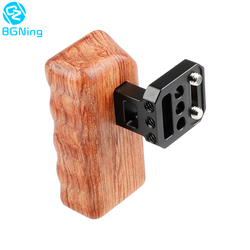 BGNing Right Wooden Handle Grip for Cage On The Side DSLR Camera Handle for Panasonic GH Series Universal Camera Rig Accessories