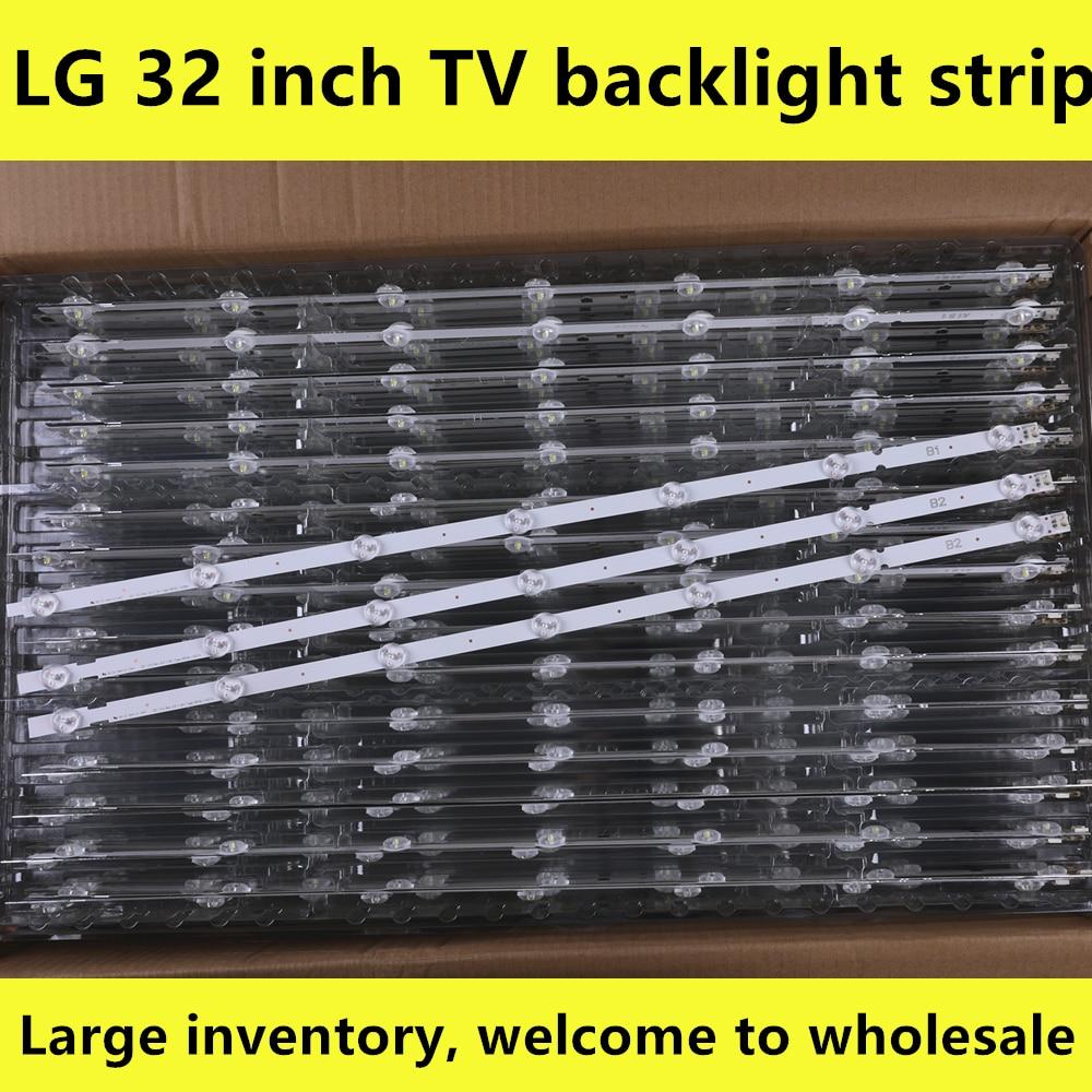 3pieces 7LED Backlight Lamp Strip For LG 32 TV 32ln541v 32LN540V A1 B1-Type 6916L-1437A 6916L-1438A 6916L-1204A 6916L-1426A 63cm