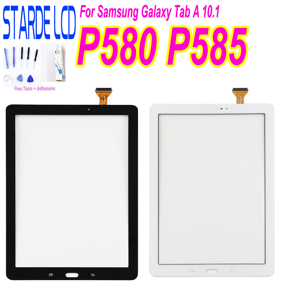 For Samsung Galaxy Tab A 10.1 SM-P580 P585 P580 Touch Screen Digitizer Sense Replacement Parts With Free Tools
