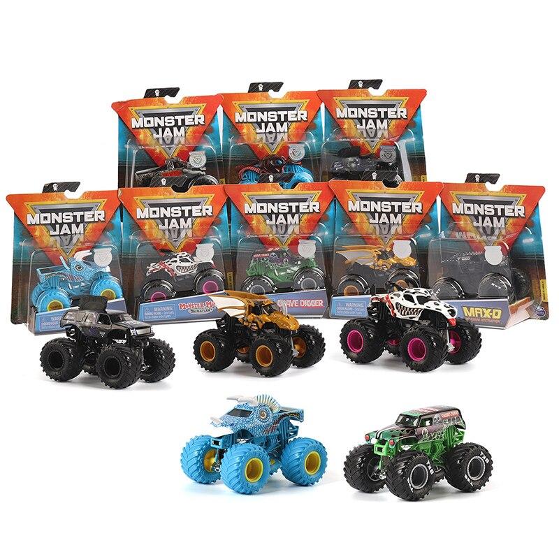 original Spin master classic Monster Jam boy children's toy alloy car model inertial four-wheel drive flip off-road vehicle