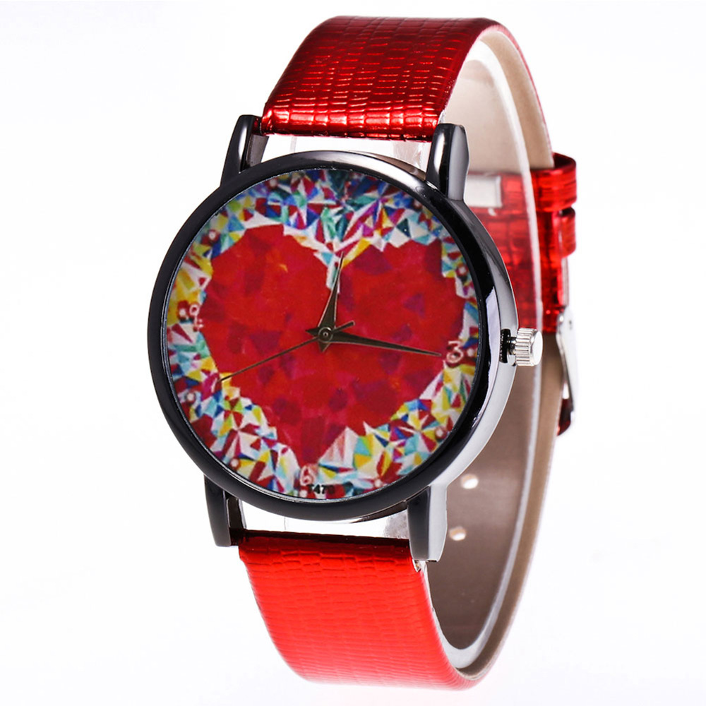 Colorful Printed Couple Quartz Watch Round Dial Watches Unisex Watches Gifts For Men Women  LXH