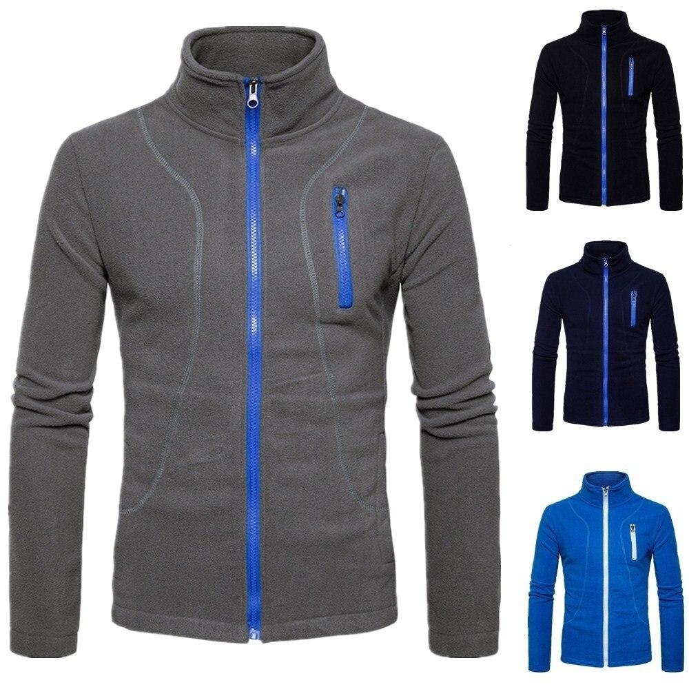Zogaa 2019 Men Sports Casual Wear Zipper New Fashion Tide Jacquard Hoodies Fleece Jacket Fall Sweatshirts Autumn Spring Jacket