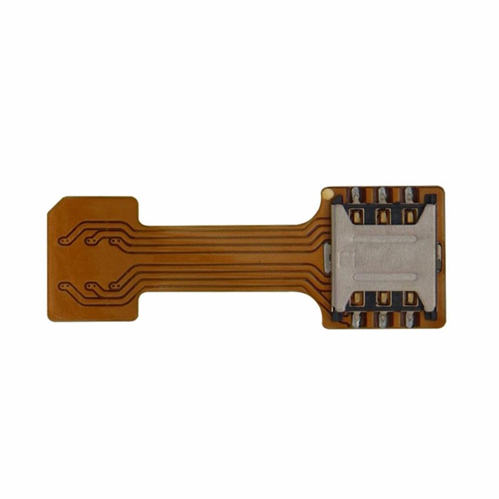 1PCS Universal Hybrid SIM Card Slot Dual SIM Card Adapter Micro Extender Nano To Nano For Android Phone For Xiaomi