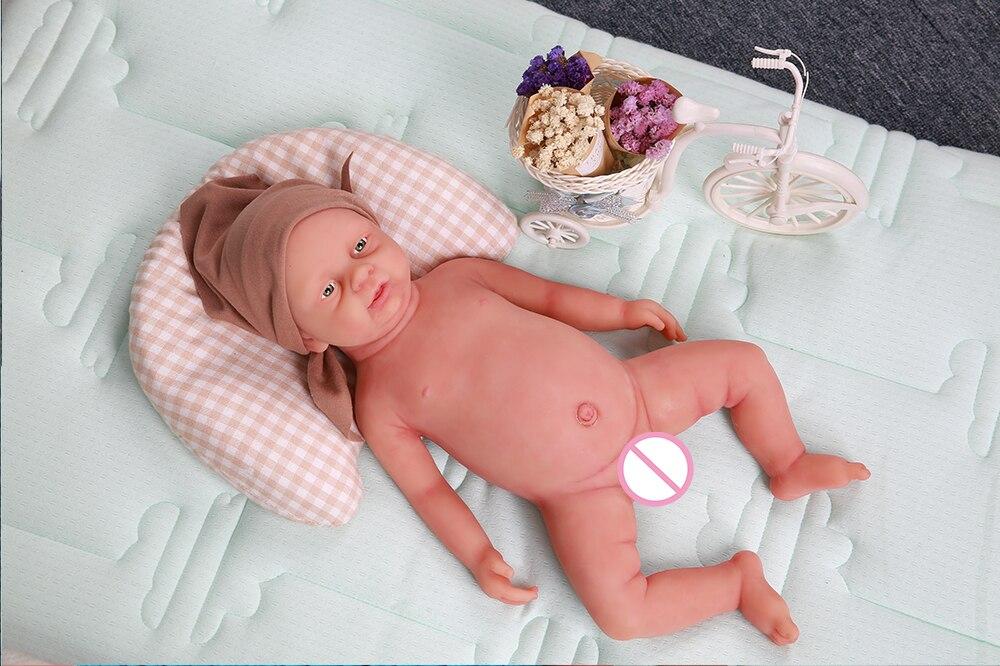 realista reborn boneca lifelike brinquedos bebe menino olhos abertos 03