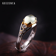 925 Sterling Silver Natural Prehnite Handmade Craft Ring  Women Fine Jewelry Luxury Trendy Gemstone Rings Party Engagement Gift