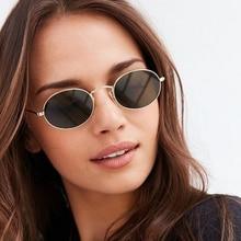 Bonitas gafas de sol ovaladas Retro y sexis para mujer, gafas de sol Retro de color negro dorado pequeño, gafas rojas para mujer, gafas para conductor