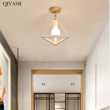 Osobowość twórcza ganek lampy Led żyrandol oświetlenie do sypialni korytarz Loft balkon Art oświetlenie dekoracyjne oprawy oświetleniowe tanie tanio QIYAMI CN (pochodzenie) Klin Brak 90-260 v iron ZH002 Shadeless Modern chandelier lighting Montażu podtynkowego Żyrandole