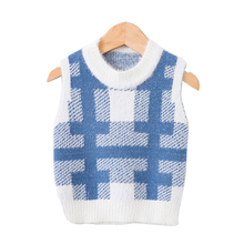 Fashion Baby Girls Boys Sweaters Vest Winter Warm Childrens Knitted Patchwork Waistcoat Kids Pullover Clothes 12M-4Y