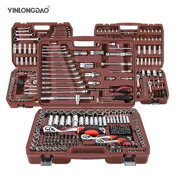 цена на Car Repair Tool Ratchet Torque Wrench Spanner Screwdriver Socket Set Combo Tools Kit Bicycle Auto Repairing Tool Mechanic Tool A