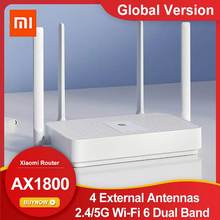 Global Version Xiaomi Mi Router AX1800 Wi-Fi 6 Dual Band Wireless WiFi Router 5-Core Chip 4 External Antennas Signal Booster