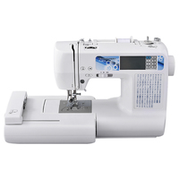 LCD Home Domestic Computerized Sewing&Embroidery Machine,Name Pattern DIY Custom Sewing Flat Embroidery Machine FL9820 110V/220V