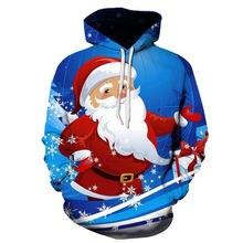 Мужская одежда Рождественская серия Санта Клаус 3d Толстовка