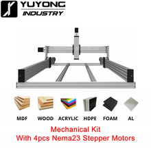 High precise LEAD CNC Router Machine Mechanical kit with 4pcs Nema23 Stepper Motors