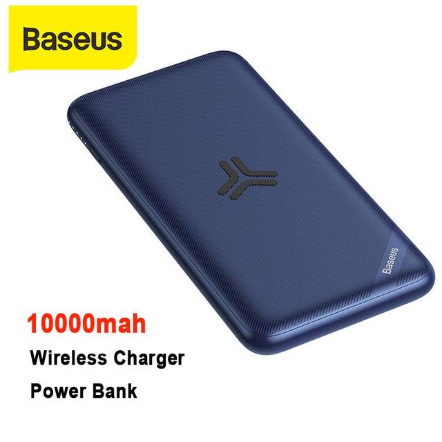Baseus 10000mah Power Bank Big Capacity Wireless Charger Powerbank PD3.0 QC3.0 Fast Charging Portable External Battery Charger
