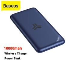 Baseus powerbank sem fio, grande capacidade, 10000mah, carregador portátil, pd3.0, qc3.0, carregamento rápido, carregador de bateria externo portátil