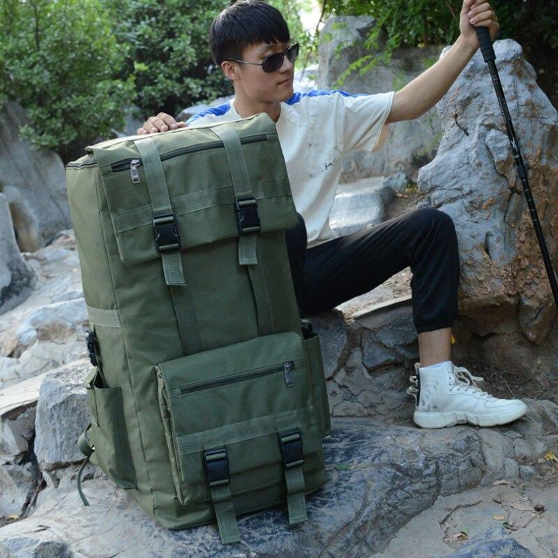 110L grand hommes randonnée sac à dos Camping sac à dos armée sac en plein air escalade Trekking alpinisme Mochila Blaso Sport XA860WA - 2