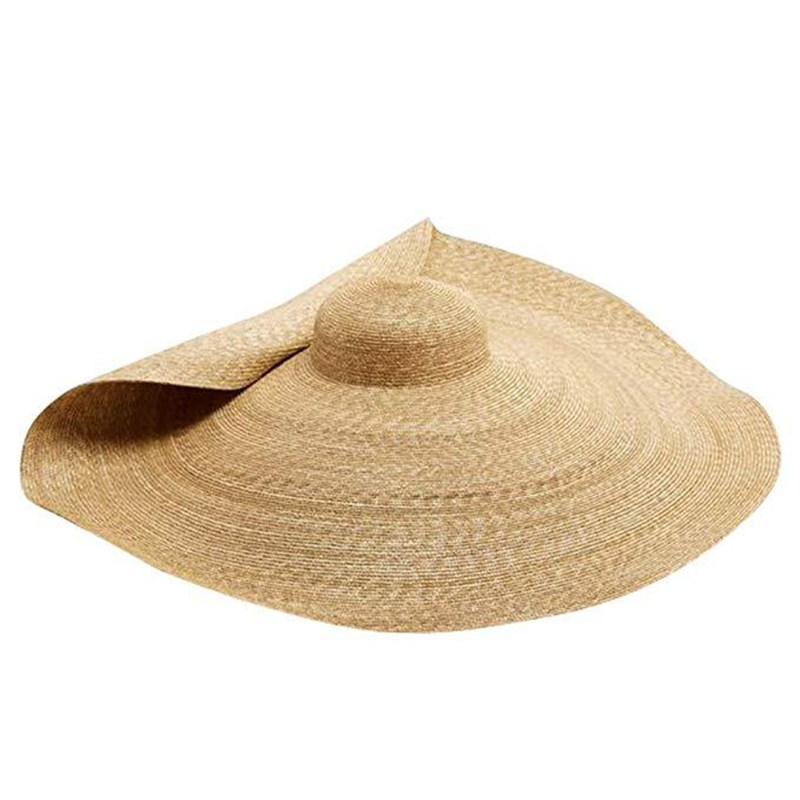 New Summer Oversize Beach Hats For Women 25CM Brim Large Straw Hat  Sun Protection Fashion Party Travel Hat Dropshipping