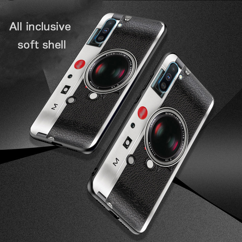 Retro color camera case FOR Samsung Galaxy Note 10 Plus Relief cover Retro radio tape embossed case Slam dunk Painting in Fitted Cases from Cellphones Telecommunications