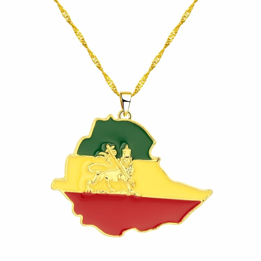 CHENHXUN CHENGXUN кулон Карта Африки ожерелье подарок золотой цвет длинная цепочка торговля Африканская Карта для мужчин и женщин модный подарок для ювелирных изделий - Окраска металла: 10