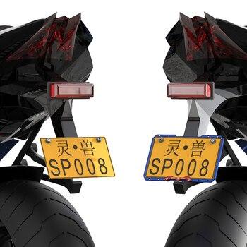 Portatarga Decorativo | SPIRITO BESTIA Lega Di Alluminio Telaio Targa Del Motociclo Universale Targa Bordo Motocross Decorazione