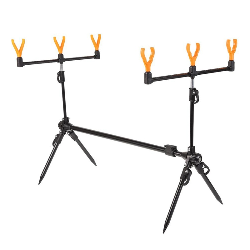 Adjustable Retractable Carp Fishing Rod Pod Stand Holder Fishing Pole Pod Stand Fishing Tackle Fishing Accessory